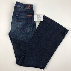 7 for all mankind dojo flare jeans 27x31